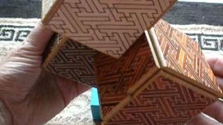 Sneak Peek At The Three Cornered Deadlock Japanese Puzzle Box.avi
