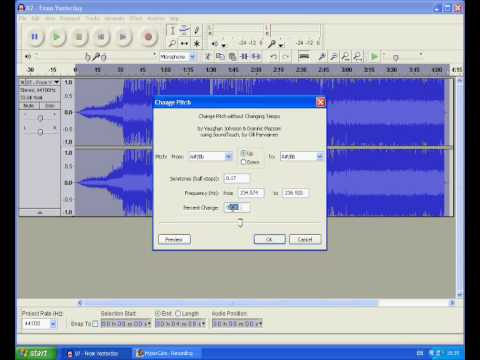 How to Turn a male voice to female voice with Audacity « Audacity
