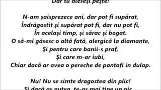 Carla's Dreams - Dragostea Din Plic  Versuri (Lyrics)