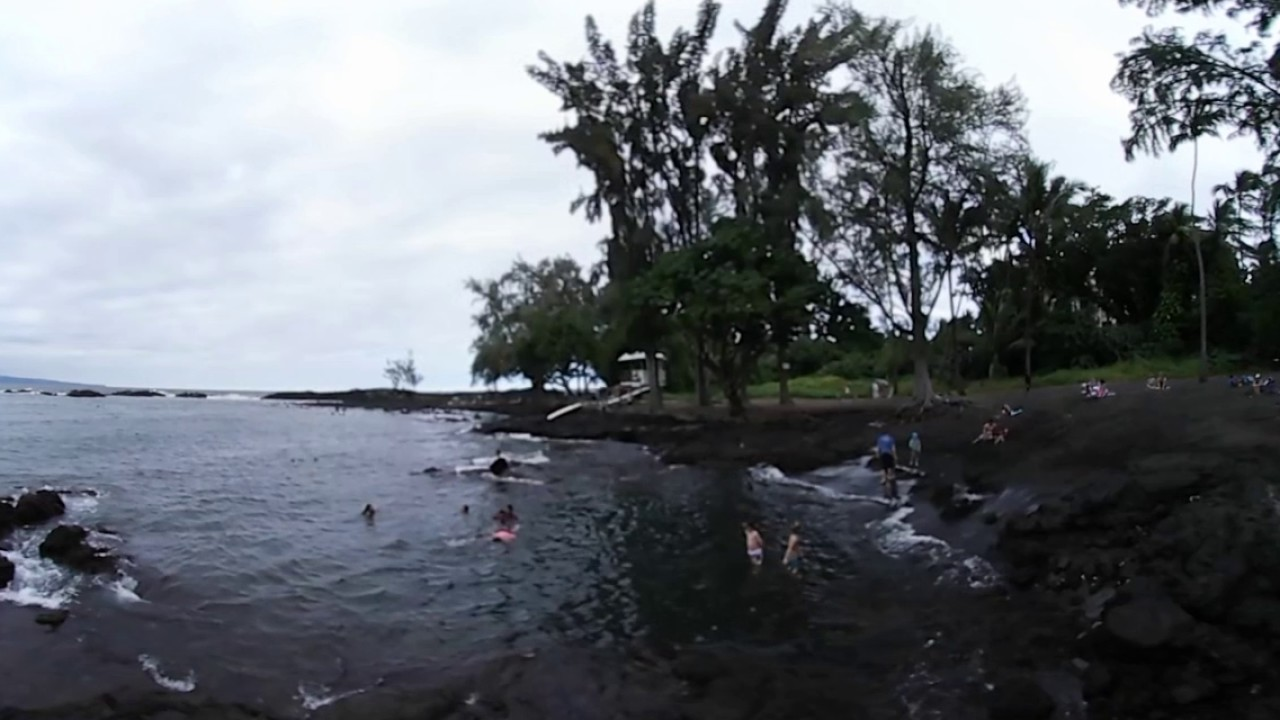 Black Sand Beach Hilo Island Hawaii