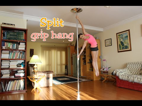 Split grip hang  -Tutoriais de Pole Dance por Alessandra Rancan