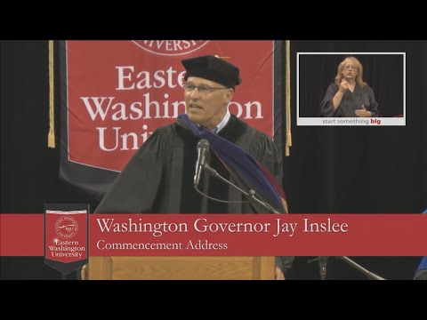 2016 Eastern Washington University Commencement - 2 pm Ceremony Address: Jay Inslee