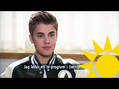 Justin Bieber  with Tilde de Paula  Nyhetsmorgon TV4