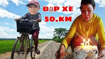Thử Thách Đi Xe Đạp 50km Mua Quà Tặng Mẹ | Và Nhập Viện Vì Bị Té Xe Đạp | Sang tv