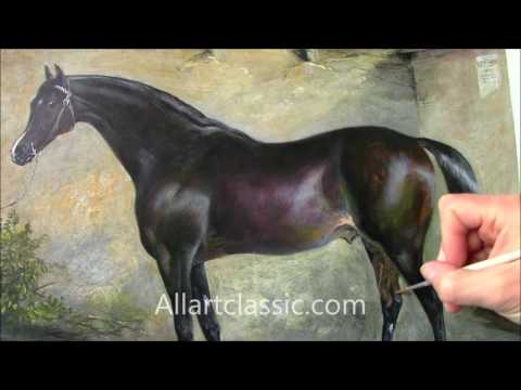 George Cole Painting Horse Venison  -Equestrian Art Painting