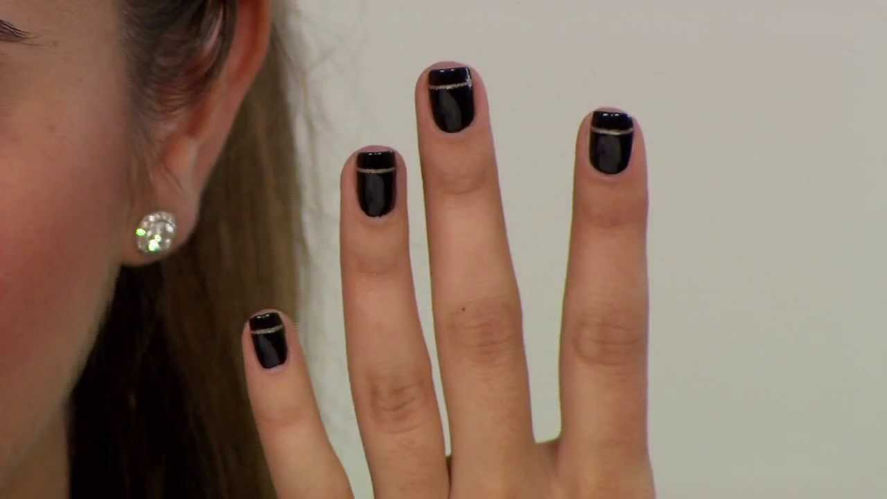How To Gold Stripe Nail Youtube