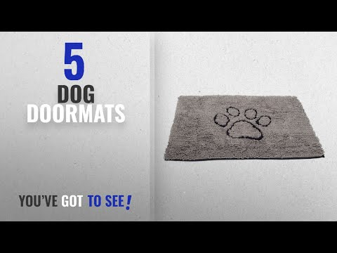 Top 10 Dog Doormats [2018 ]: Dog Gone Smart Dirty Dog Doormat, Large, Grey