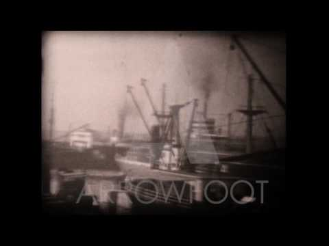 Vintage Footage of NYC Port of Manhattan and Brooklyn 1950s