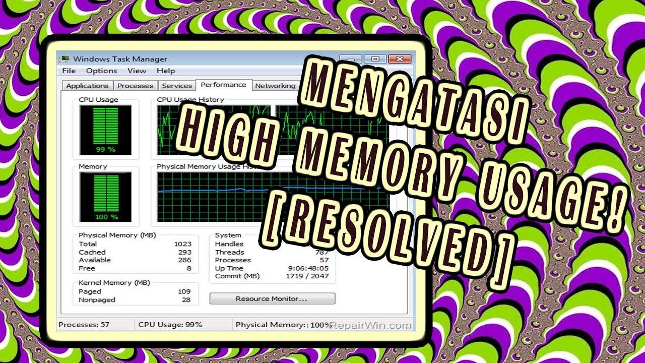 Resolved Cara Mengatasi Memory Usage Pc Yang Tinggi Windows 8 7