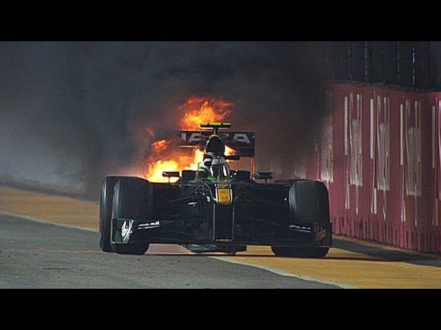 Heikki Kovalainen Turns Firefighter | 2010 Singapore Grand Prix