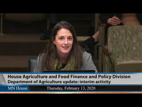 House Agriculture and Food Finance and Policy Division  2/13/20