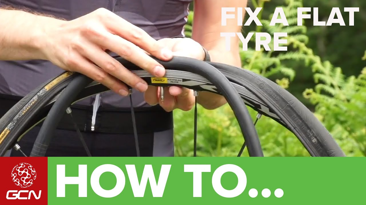 How To Fix A Flat Tyre Fix A Road Bike Puncture Youtube