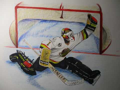Nhl Hockey Goalie Kirk Mclean Step By Step Drawing Youtube
