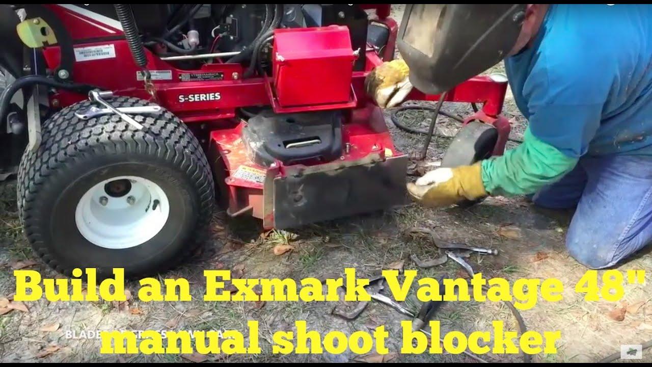 how to build a manual chute blocker for the exmark vantage 48 by rh youtube com  2001 exmark lazer z 60 manual