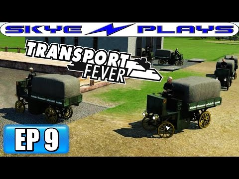 Transport Fever Let's Play / Gameplay Part 9 ►Internal Combustion Engine!◀ (1893)