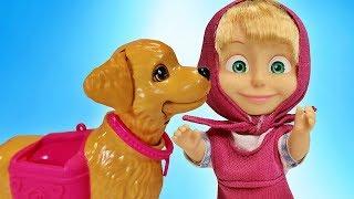 Маша получает Подарок! Питомец Собака. Куклы Пупсики из Мультика Маша и Медведь Зырики ТВ Игрушки