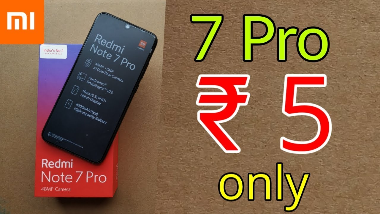₹ 5 only | Redmi Note 7 Pro only rs 5 | Latest Tricks - ₹ 5 only | Redmi Note 7 Pro only rs 5 | Latest Tricks