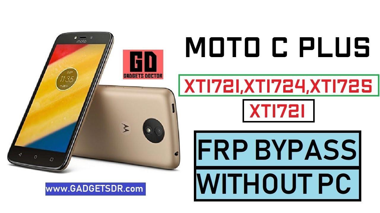 Moto c plus xt1723 frp