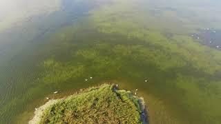 Jezioro Łuknajno jesienią