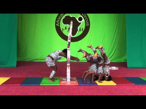 African Dream Circus No.6 - Hoop Diving, Pyramid Acrobat