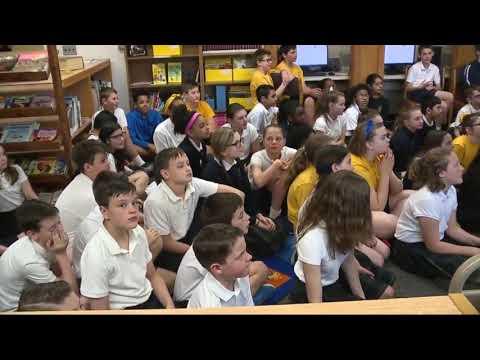 Kevin visits Shrine Catholic Grade School in Royal Oak