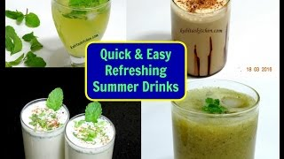 Refreshing Summer Drinks | Aam panna | Cold Coffee | Masala Chaas | Mint Lemonade | kabitaskitchen