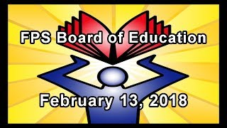 School Board Meeting - February 13, 2018