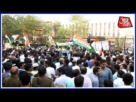 100 Shehar 100 Khabar: Congress Protest Against Note Ban Issue In Kanpur