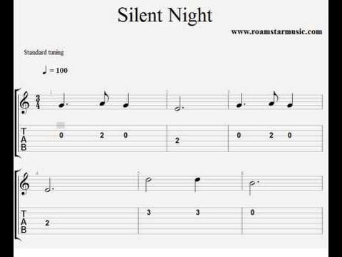 Silent Night Guitar Pro Tab For Beginners