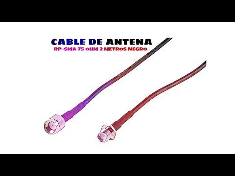 Video de Cable de antena RP-SMA 50 Ohm 2 M Negro
