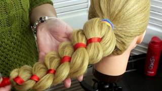Коса с лентой.Weaving braids video tutorials: braid with a ribbon