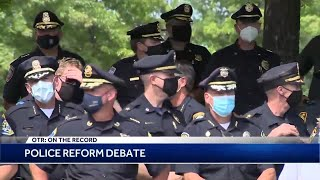 OTR: Is police reform bill moving too fast through Massachusetts State House?