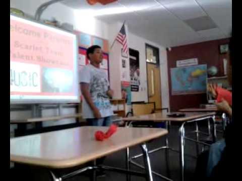joe singing at ernie davis middle school