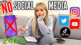 I WENT 24 HOURS WITH *NO* SOCIAL MEDIA.. Here's what I did instead.