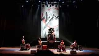 Japanese drum troupe ASKA in Ekb 1 of 3