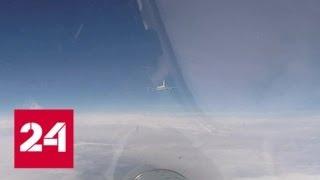 """Смотреть видео На Балтике российский Су-27 """"перехватил"""" самолеты США и Швеции - Россия 24 онлайн"""