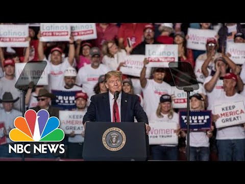 John and Ken - President Trump Says We Love Our Hispanics at a New Mexico Rally