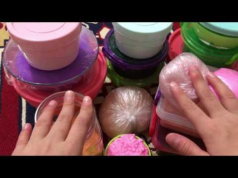 2018 SLIME KOLEKSİYONUM!! - MY SLIME COLLECTION -  DIY 15+ Slime - Oyun Tanrıçası TV