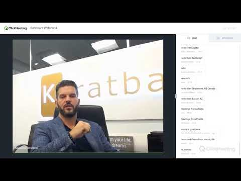 Karatbars Corporate Webinar 4 By Dirc Zahlmann - Head of International Sales at Karatbars.