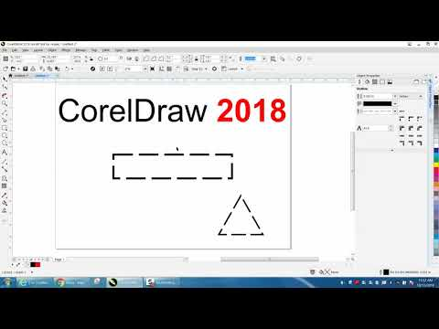 Corel Draw Tips & Tricks CorelDraw 2018 Dotted Or Dashed Lines CORNERS