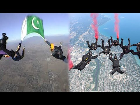 Skydiving by SSG | Free Fall on Pakistan Day Parade from 10000 ft | 23 March 2021