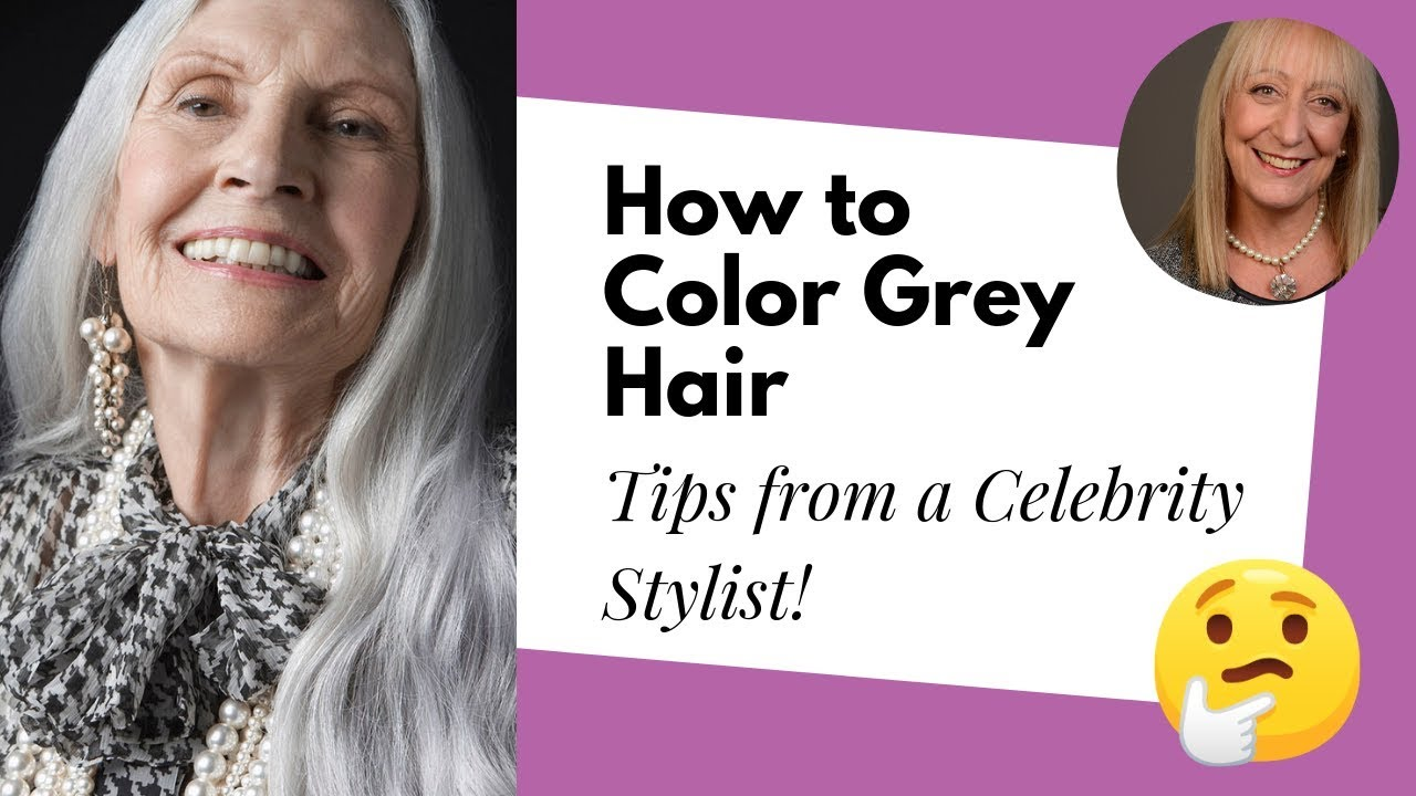 How To Color Grey Hair And Eyebrows Advice From An Over 50 Fashion