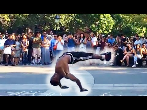 Tic & Tac Breakdancers Street Performers in Washington Square Park, New York