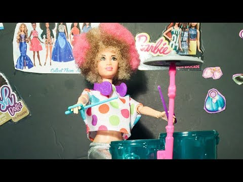 Barbie and the Rockers Afro Drummer Unboxing and review