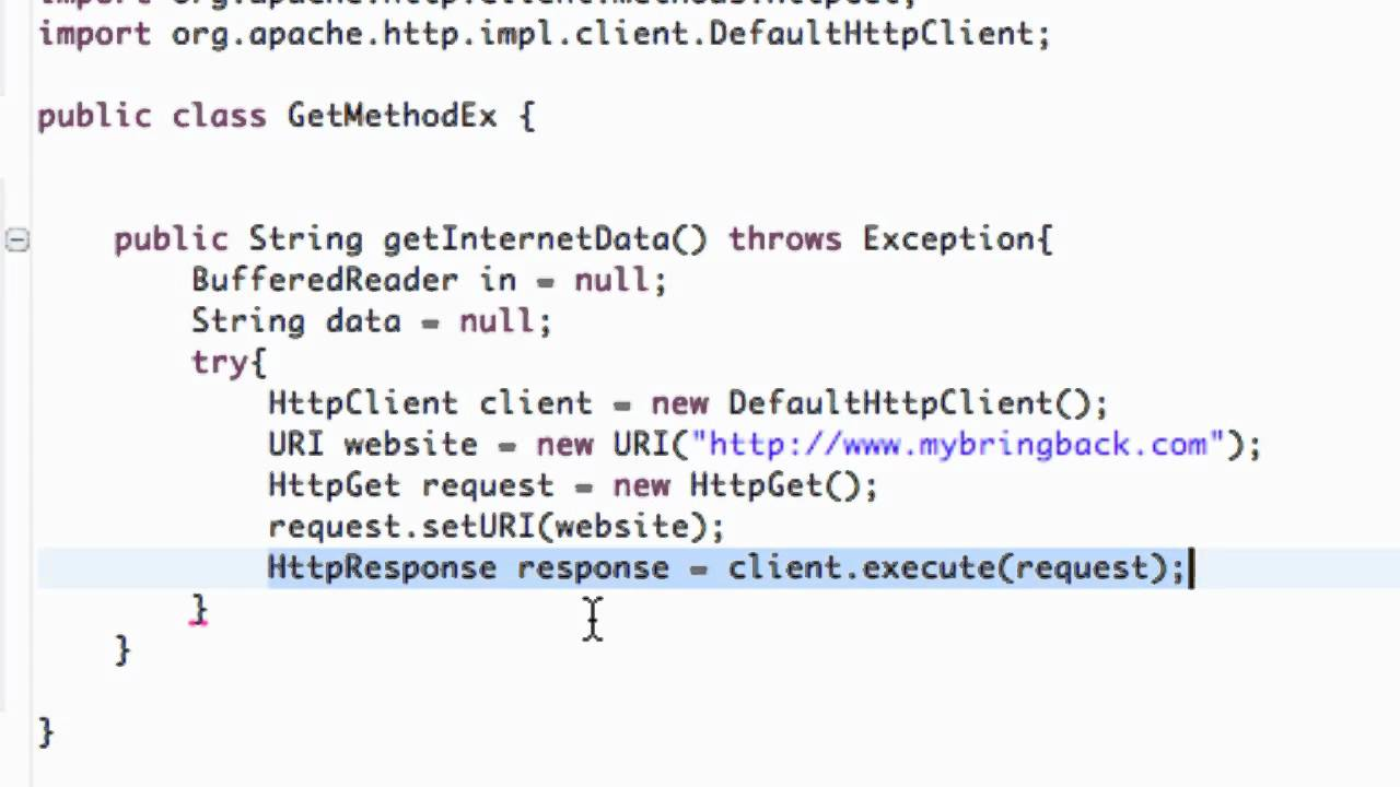 Android Application Development Tutorial - 148 - Executing HttpGet on a  Http Client