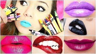 DIY: Make lipstick out of CRAYONS | Krazyrayray
