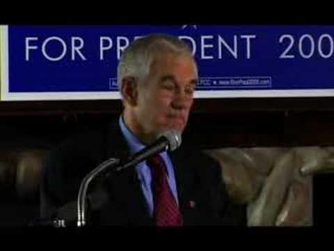 Ron Paul Seattle Economic Speech 6 of 6  [1-31-08]