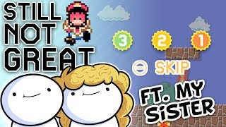 Mario Maker Part 2 Ft. My Sister