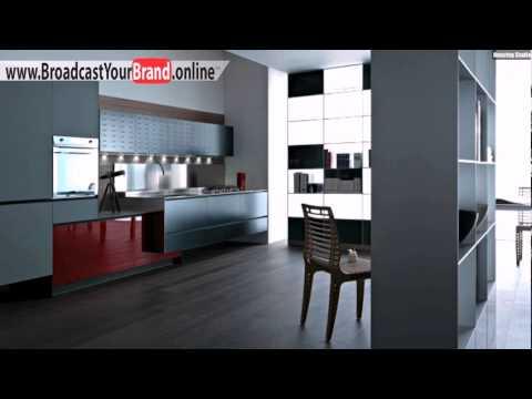 Valcucine Küchen Matt Grau Hochglanz Rot Akzent