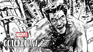 Artist Mike Walsh draws Wolverine – Marvel Quickdraw